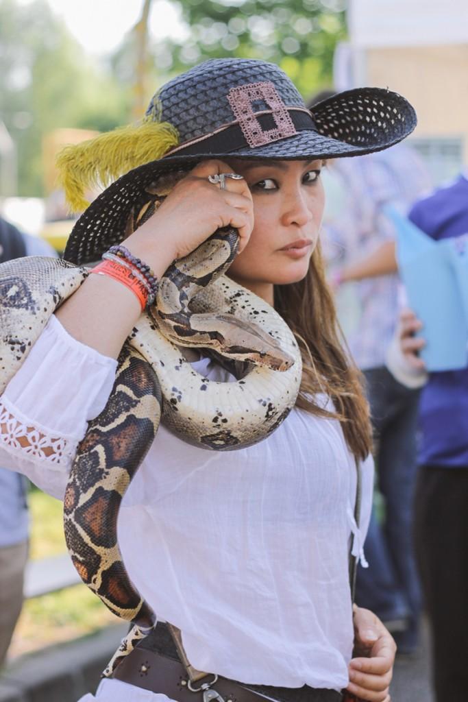 Lola - Je viens depuis le début avec K-Nabis, le serpent. A force, c'est un peu devenu la mascotte du NL !